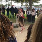A tradtional smoking ceremony is held at the Deadly Yakka launch in Gosnells, WA.