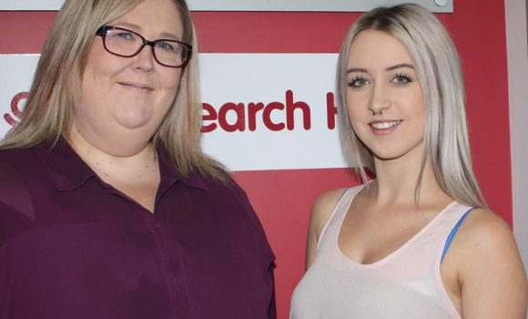 Melton job seeker Paige Mozjerin (right) and MatchWorks consultant Kristie Dawe.