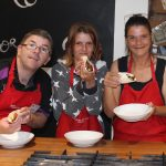 Participants showing off their cooking skills at Jamie's Ministry of Food in Geelong.