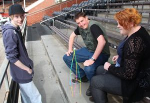 MatchWorks job seekers work in teams to complete a fun activity at Port Adelaide FC.