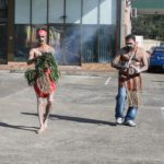 Local Tharawal man Josh Bell conducted the traditional Welcome to Country at the Deadly Yakka in Campbelltown.