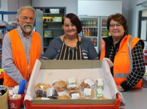 GrainCorp's Graeme and Liz with MatchWorks job seeker Leanne (middle).