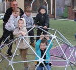 MatchWorks job seeker Chris and children at the Bellarine Kids Early Learning Centre.