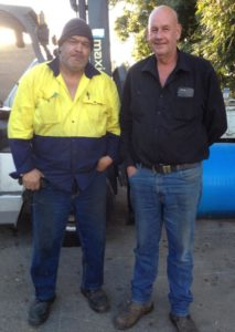 ESG job seeker Joseph and Burmester Contracting Managing Director Garry Burmester.