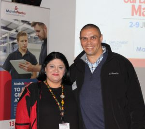 MatchWorks Indigenous Employment Consultant Therese Dalakian-Favaloro and former Olympian hurdler Kyle Vander Kuyp.