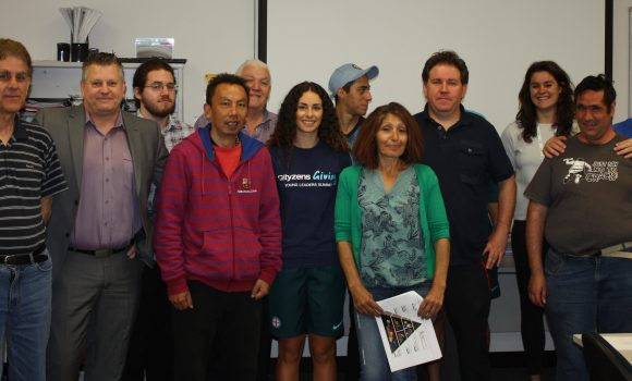 Mentors and participants from the City Pathways program.