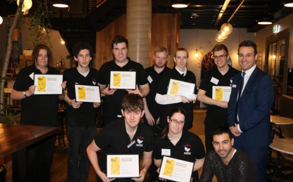 Pictured: MatchWorks DES clients with The Cellar Door head chef Eitan (bottom right) and Matt Petrucci (top right).
