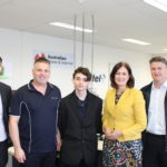 MatchWorks Employment Consultant Chris Fowler, Powercom Pacific Managing Director Barry Ford, MatchWorks job seeker Jesse, Sarah Henderson MP and MatchWorks jobactive Director Mark McCoy.
