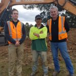 Pictured: Snowmax Civil owner John Dennehy (right) with ESG job seekers Ryan (left) and Chiaranay (middle).