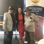 Aboriginal elders Uncle Greg Simms and Uncle Wes Marne with MP Prue Carr at the Deadly Yakka St Marys launch.