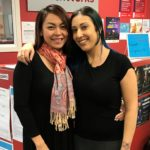 Sara (right) with her employment consultant Hang.