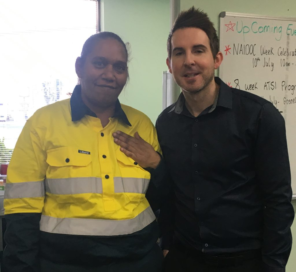 Rebecca and ESG MatchWorks Gosnells Site Manager Brendan Travers.