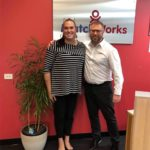 Transgender advocate, Michelle Sheppard with MatchWorks consultant, Wolfgang Web