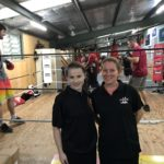 Briannah with her employer, Kylie Burford from Spiders Boxing Club.
